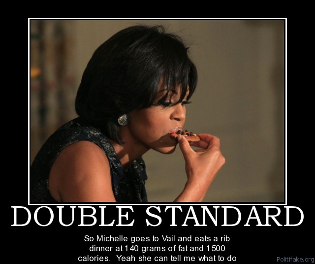michele obama eating
